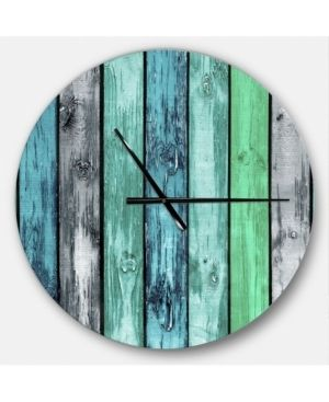 Designart  Painted Wooden Planks  Oversized Modern Wall Clock  Retail 129 99