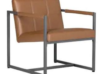 Studio Designs Home Camber Mid Century Modern Accent Chair with Metal Frame and Bonded leather  Retail 177 49