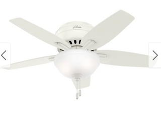 42  Newsome low Profile Ceiling Fan White  Includes Energy Efficient light    Hunter