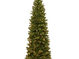 7 ft  North Valley Spruce Pencil Slim Tree with Clear lights