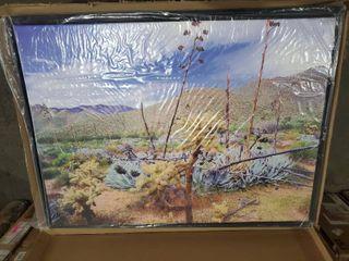 ArtWall Dean Uhlinger  The living Desert  Floater Framed Gallery wrapped Canvas  Retail 149 49