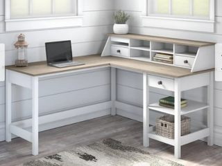 The Gray Barn Orchid Gulch l shaped Computer Desk with Organizer  Retail 475 99