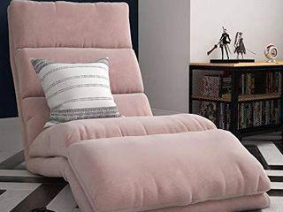 DHP Beverly Wave Adjustable Memory Foam lounger  Pink Microfiber