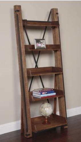 Carbon loft Edwina Industrial Open Shelf ladder Bookcase  Retail 377 49