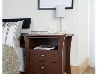 Copper Grove Ettrick Vintage Walnut Modern 2 drawer Nightstand   Retail 161 49