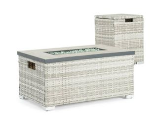 Cheyenne 32x20 Fire Table in Grey by Sego lily  Retail 354 99  Firepit ONlY