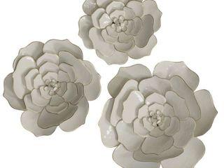 StyleCraft Floral Metal Wall Art  Set of 3    24 x 24 Retail 226 99