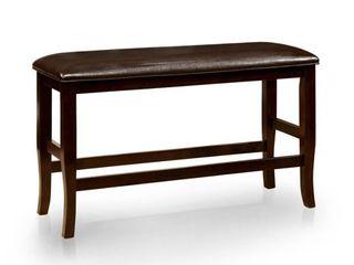 Furniture of America Zita Contemporary Espresso Counter Height Dining Bench   Retail 115 89