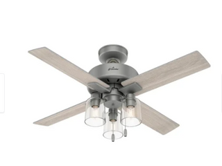 Hunter 44  Pelston Ceiling Fan with lED light and Pull Chain Retail 163 49