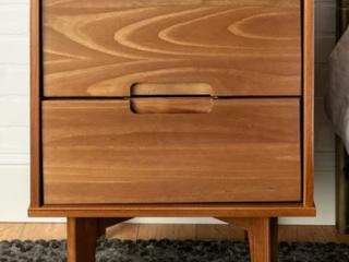 Carson Carrington 20 inch longyearbyen 2 drawer Mid century Modern Nightstand Retail 105 99