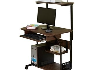 Simple living Actuate Espresso Mobile Computer Desk  Retail 123 99