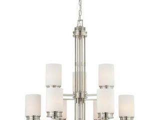 Wright 9 light Chandelier with Satin White Glass  Retail 302 99