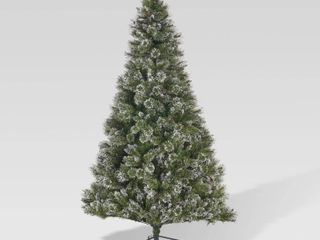 7 5 ft Spruce Pre lit or Unlit Artificial Christmas Tree with Snow Glitter Branches Frosted Pinecones by Christopher Knight Home Retail 289 99