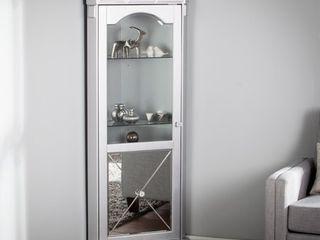 Zephyr Mirrored lighted Corner Curio Cabinet  Retail 482 99