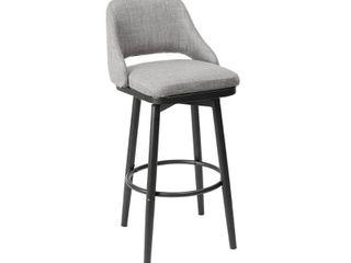 Ari Adjustable Height Upholstered Barstool   Slight Damage  Retail 152 49