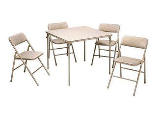 5pc Folding Table and Chair Set Tan   Room  amp  Joy