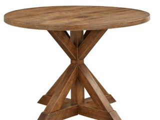 Charlotte Pedestal Dining Table Driftwood  Table Top Only  And Tiny Crack On Edge