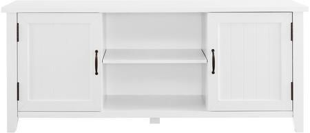Walker Edison 58  Grooved Door TV Console   Solid White