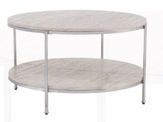 Silver Orchid Henderson Round Faux Stone Cocktail Table   Retail 186 99