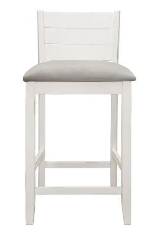 Incomplete Item  Fowler Wood Counter Height Stool Sea White   Only One Chair Back