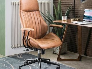Ovios Ergonomic Office Chair with lumbar Support  Suede Fabric   Retail 257 49