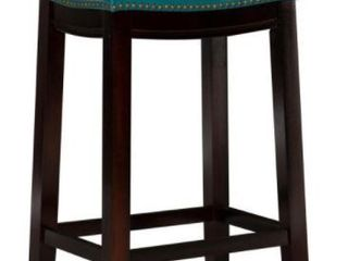 Claridge 26  Counter Height Barstool Blue   linon