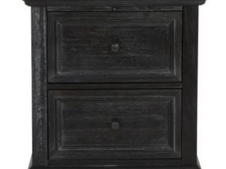 Farmhouse Basics 2 Drawer Nightstand with Tray Table