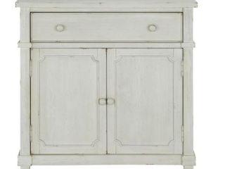 Dorel living  Mott Antique White Accent Cabinet  Blemishes on Corners  Retal   412 99