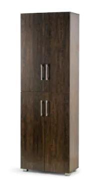 Anthea Dark Brown 4 Door Shoe Cabinet  Scratches on Surfaces