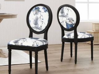 Hiro Traditional Fabric Dining Chairs  Set up 2  by Christopher Knight  Retail   286 48