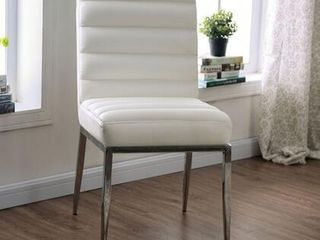 Cilegon Collection 18  Side Chair with Metal Construction Padded leatherette Seat  Set of 2