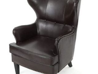 Warner High Back Chair by Christopher Knight  Brown  Retail   438 19