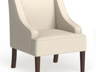 Porch   Den lyric Cream Swoop Arm Accent Chair  Retail 188 99
