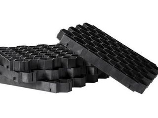 Gardenised Plastic Permeable Gravel Pavers for Parking lot and Driveway  Tiles  16 Total