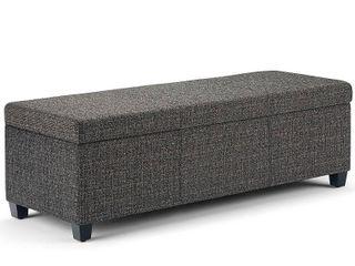 Simpli Home Avalon Storage Ottoman Bench
