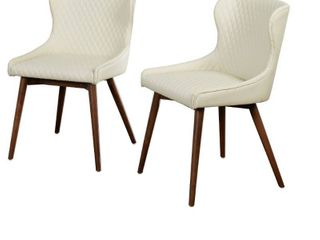 Seguro Dining Chairs  Set of 2    Cream  2 Small Tears on One Chair Side