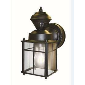 Secure Home 9 52 in H Matte Black Motion Activated Outdoor Wall light