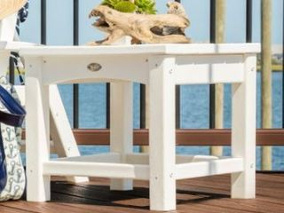 Trex Outdoor Furniture Rockport Club 18 Inch Side Table  Classic White Retail  199 99