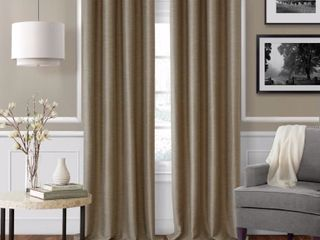 Elrene Serena Adjustable Window Curtain Rod and Cap Shaped Finial