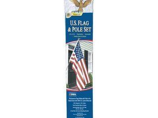 Annin Flagmakers 3  x 5  U S  Flag and Flagpole Set