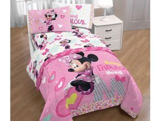Disney Minnie Mouse Pink   White Kid s Bed Sheet Set