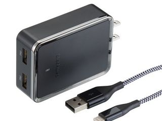 Blackweb Wall Charger Cable with lightning Connector 4 8 Amp  Black