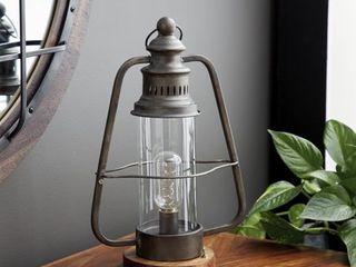 Decmode   Industrial Brown Metal Electric lantern  10  x 16