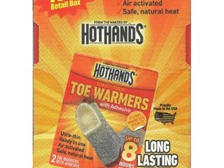 16 Pairs of HOTHANDS Toe Warmers with Adhesive  32 Total