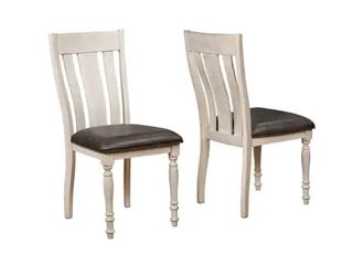 Arch Weathered Oak Turned leg Dining Chair Set of 2