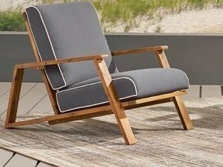 Paloma Outdoor Acacia Wood Club Chairs with Cushions  Set of 2  by Christopher Knight Home