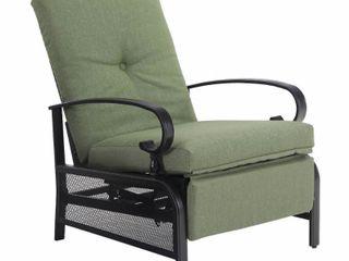 Patio Adjustable Recliner lounge Chair   Green   Captiva Designs