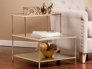 Knox Accent Table Material Plated Iron Size 20 5 W x 24 l x 23 75 H