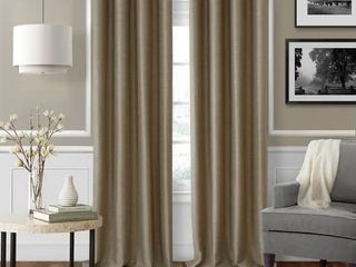 Serena Adjustable 48in  86in Curtain Rod with Cap Finials