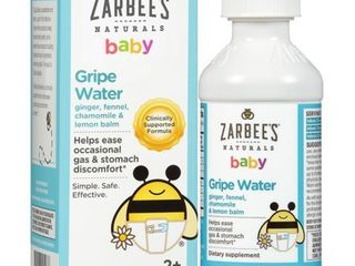 Zarbee s Naturals Gripe Water  Clinically Supported Formula with Ginger  Fennel  Chamomile  lemon Balm   4 Ounce